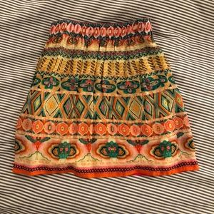 Anthropologie bright-colored elastic beaded skirt